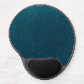 Deep Sea Watercolor - Dark Teal Blue and Aqua Gel Mouse Pad