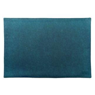Deep Sea Watercolor - Dark Teal Blue and Aqua Placemat