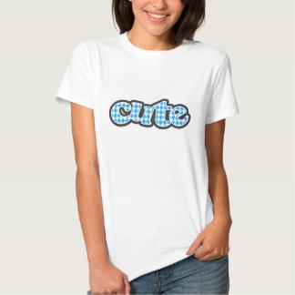 Deep Sky Blue Houndstooth Tee Shirts