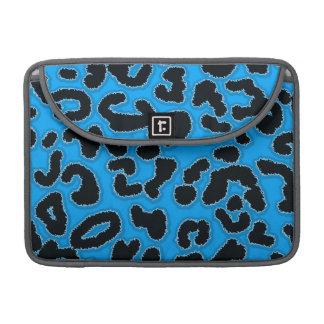 Deep Sky Blue Leopard Animal Print Sleeve For MacBook Pro