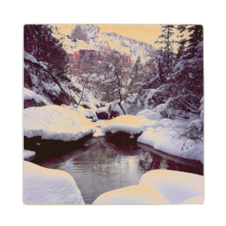 Deep snow at Middle Emerald Pools Maple Wood Coaster