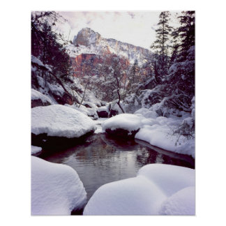 Deep snow at Middle Emerald Pools Poster