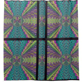 Deep Sound Crochet Look Shower Curtain