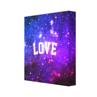 DEEP SPACE ASTROPHOTO - LOVE TEXT- CANVAS PRINT