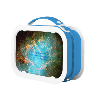 Deep space: Crab Nebula in Taurus astronomy image Lunch Boxes