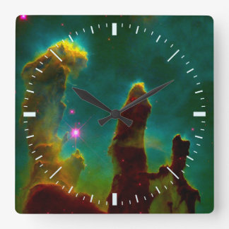 Deep Space Eagle Nebula (M16) Square Wall Clock