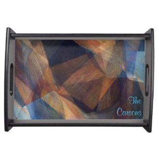 """Deep Space"" Fine Art Personalized Serving Tray"