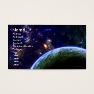 Deep Space Formation Business Card Template