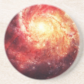 Deep space Galaxy (Messier 101 Remix) Drink Coaster