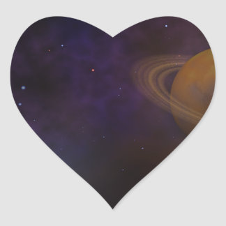 Deep Space Heart Sticker