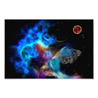 Deep Space Meteor Photo Print