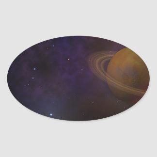 Deep Space Oval Sticker