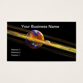 Deep Space Planet and Moon Business Card