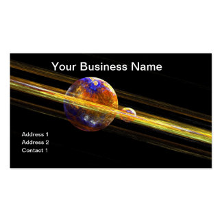Deep Space Planet and Moon Business Card Template