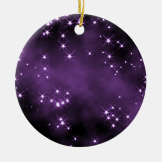 Deep Space Purple Collectible - Personalize Round Ceramic Decoration