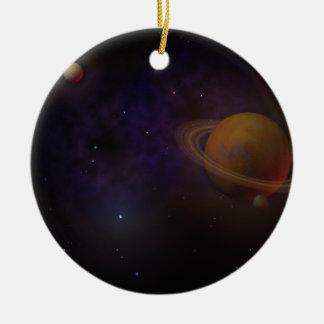 Deep Space Round Ceramic Decoration