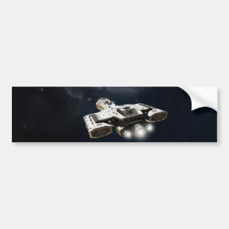 Deep Space - Science Fiction Battle Cruiser Bumper Sticker