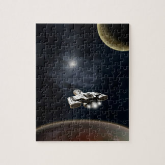 Deep Space - Science Fiction Battle Cruiser Jigsaw Puzzle