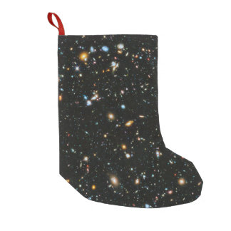 Deep Space Stars and Galaxies Small Christmas Stocking