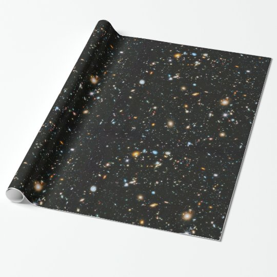 Deep Space Stars and Galaxies Wrapping Paper