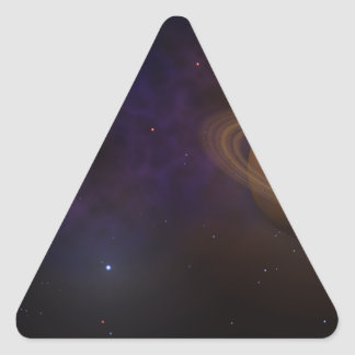 Deep Space Triangle Sticker