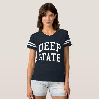 Deep State women's football teeshirt T-Shirt
