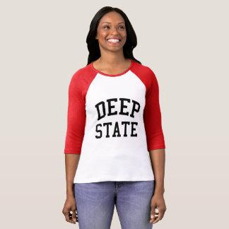 Deep State women's raglan shirt