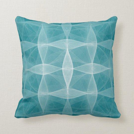 Deep Teal Woven Pattern Lumbar n Throw Pillows