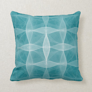 Deep Teal Woven Pattern Lumbar n Throw Pillows