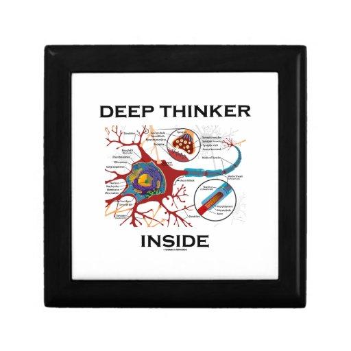 Deep Thinker Inside (Neuron Synapse) Trinket Box