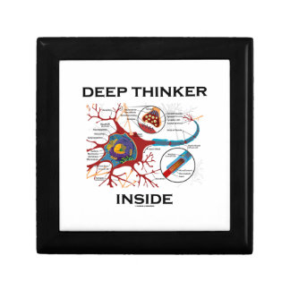 Deep Thinker Inside (Neuron Synapse) Small Square Gift Box