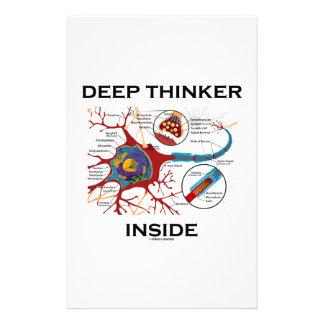 Deep Thinker Inside (Neuron Synapse) Stationery Paper
