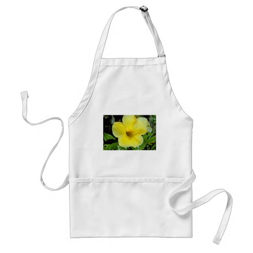 Deep-Throated Yellow Flower flowers Apron