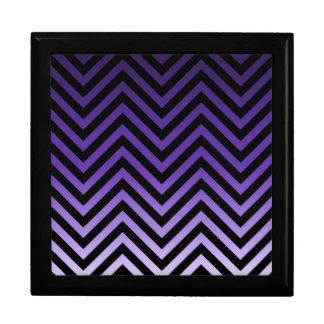 Deep to Light Purple Ombre Chevron Jewelry Box
