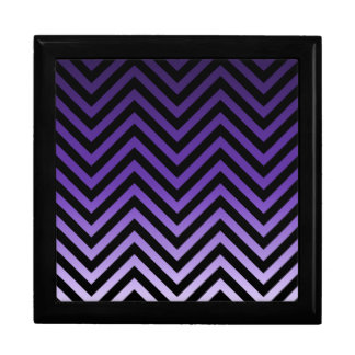 Deep to Light Purple Ombre Chevron Large Square Gift Box