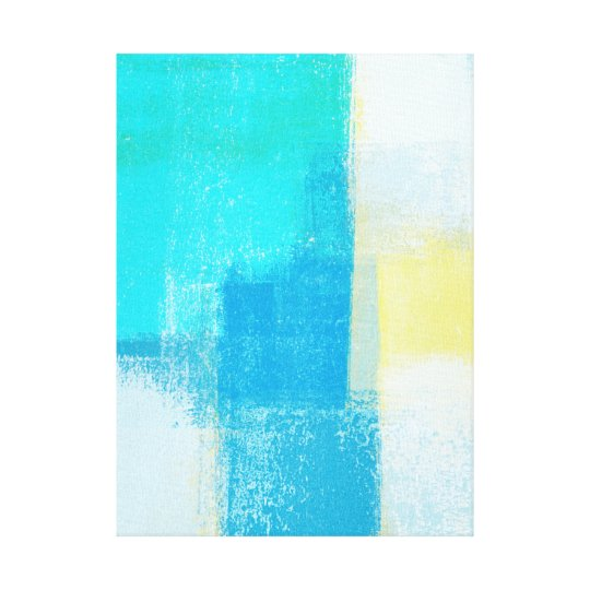 'Deep' Turquoise Abstract Art Canvas Print