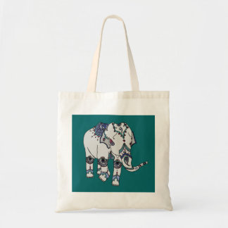Deep Turquoise Embellished Elephant Bag