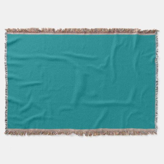 Deep Turquoise Throw Blanket
