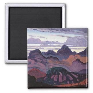 Deep Twilight, Pyrenees, c.1912-13 (oil on panel) Magnet