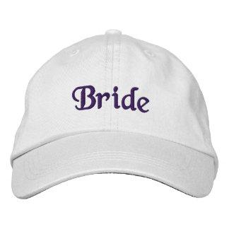 Deep Violet Bride Embroidered Hat