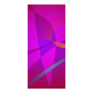 Deep Wine Red Abstract Design Custom Rack Card