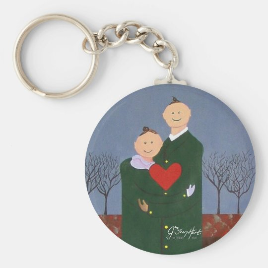 Deep Within My Heart Basic Round Button Key Ring
