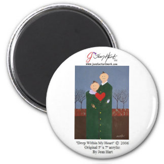 Deep Within My Heart 6 Cm Round Magnet