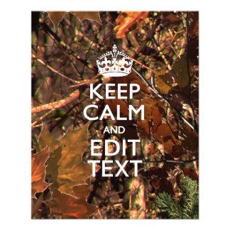 Deep Woods Camo Fall Keep Calm Your Text 11.5 Cm X 14 Cm Flyer