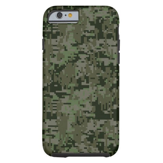 Deep Woods Digital Camouflage Camo Pattern Tough iPhone