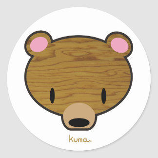 Deep woods Kuma Classic Round Sticker