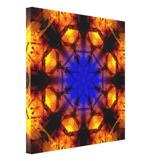 DeepBlue To VibrantOrange Mandala Canvas Print