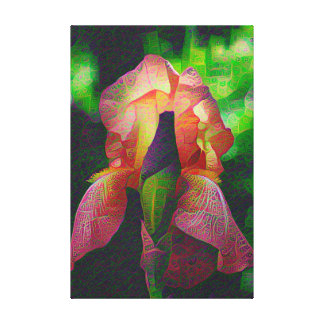 DeepDream Flowers, Iris Gallery Wrap Canvas