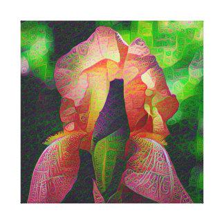 DeepDream Flowers, Iris Canvas Prints