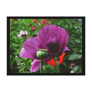 DeepDream Flowers, Poppies Canvas Print
